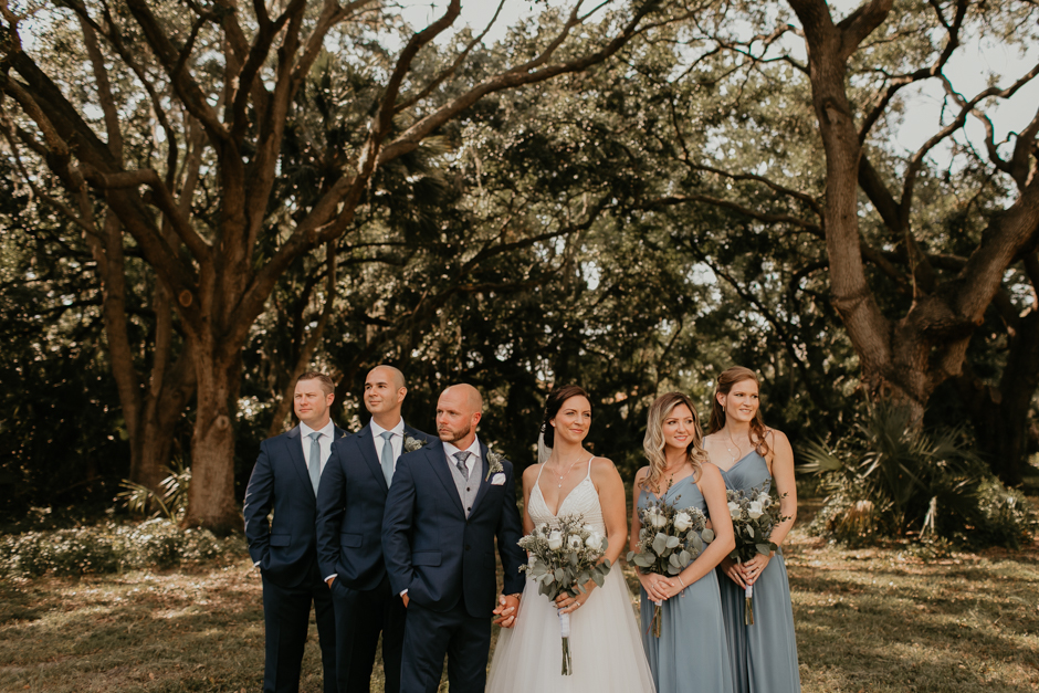 Harborside Chapel Wedding Palm Harbor Hall Bohemian Dusty Steel Blue Clearwater Tampa Wedding Photographer BHLDN Willowwby Thistle Gown White Magnolia Bridal -71.jpg