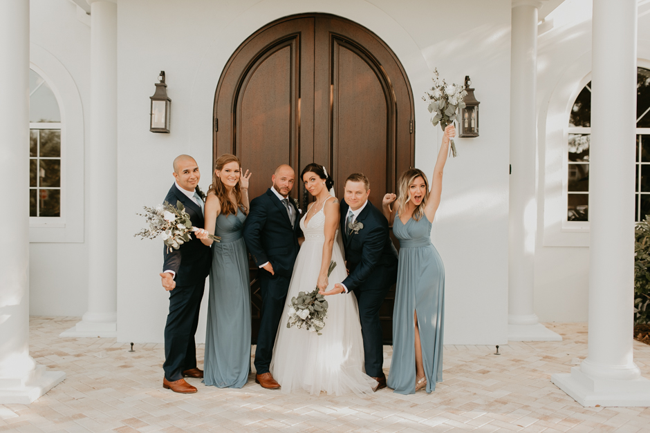 Harborside Chapel Wedding Palm Harbor Hall Bohemian Dusty Steel Blue Clearwater Tampa Wedding Photographer BHLDN Willowwby Thistle Gown White Magnolia Bridal -113.jpg