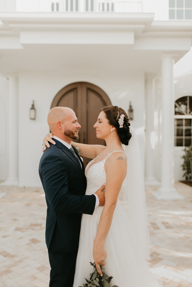 Harborside Chapel Wedding Palm Harbor Hall Bohemian Dusty Steel Blue Clearwater Tampa Wedding Photographer BHLDN Willowwby Thistle Gown White Magnolia Bridal -119.jpg