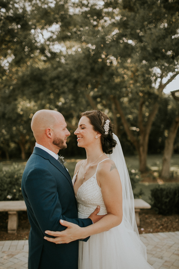 Harborside Chapel Wedding Palm Harbor Hall Bohemian Dusty Steel Blue Clearwater Tampa Wedding Photographer BHLDN Willowwby Thistle Gown White Magnolia Bridal -122.jpg