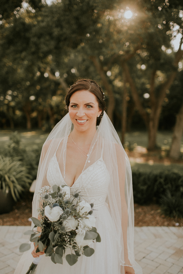 Harborside Chapel Wedding Palm Harbor Hall Bohemian Dusty Steel Blue Clearwater Tampa Wedding Photographer BHLDN Willowwby Thistle Gown White Magnolia Bridal -128.jpg