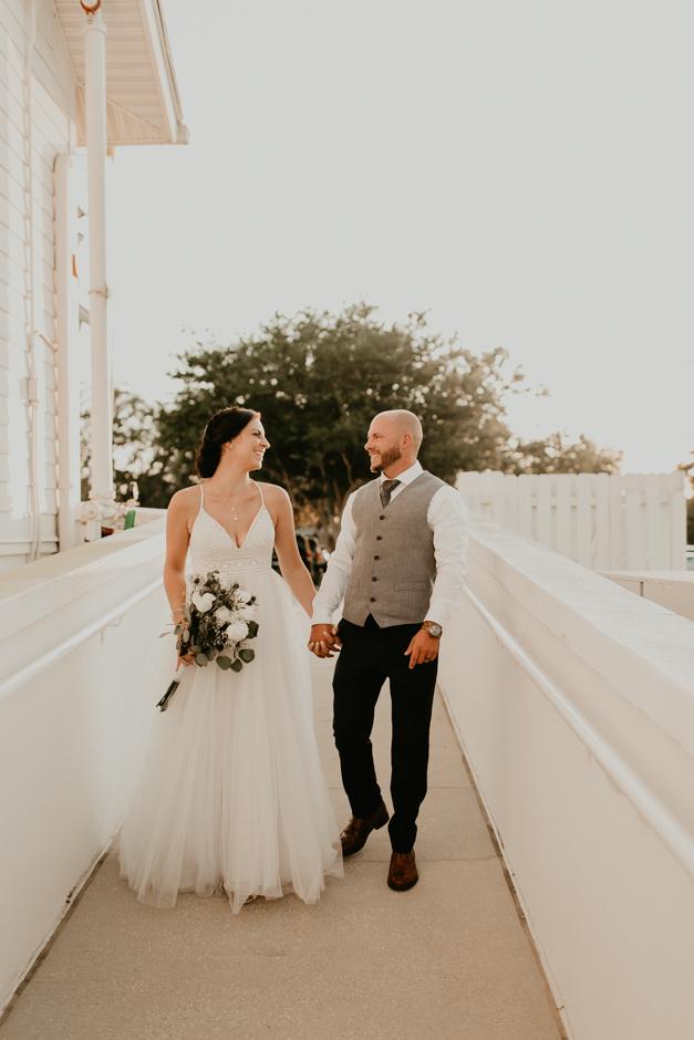 Harborside Chapel Wedding Palm Harbor Hall Bohemian Dusty Steel Blue Clearwater Tampa Wedding Photographer BHLDN Willowwby Thistle Gown White Magnolia Bridal -146.jpg