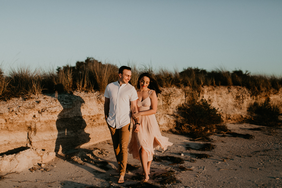 Moody Tampa Engagement Session Natural Tampa Wedding Photographer Tampa Elopement Photographer Beach Engagement Session Cypress Point Park Engagement Session-36.jpg
