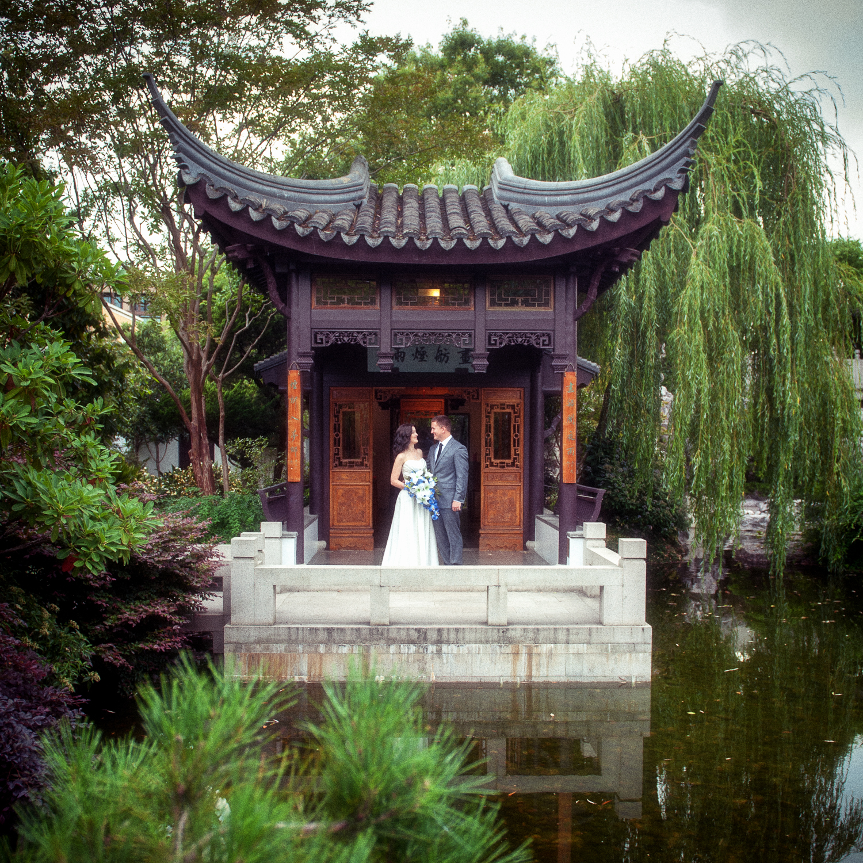 Lan Su Chinese Garden Wedding, Portland, OR