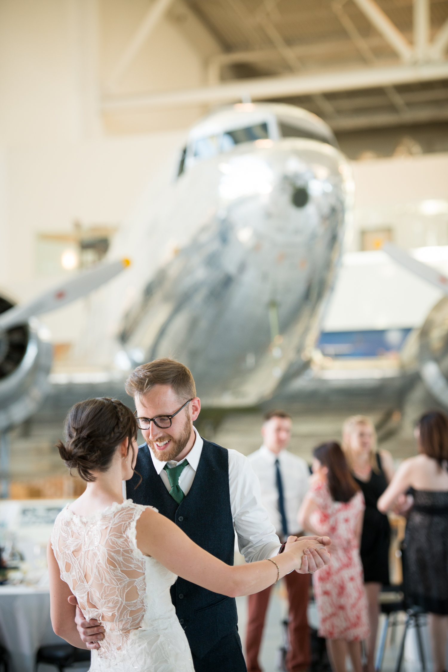 Aviation Museum Wedding, McMinnville, OR