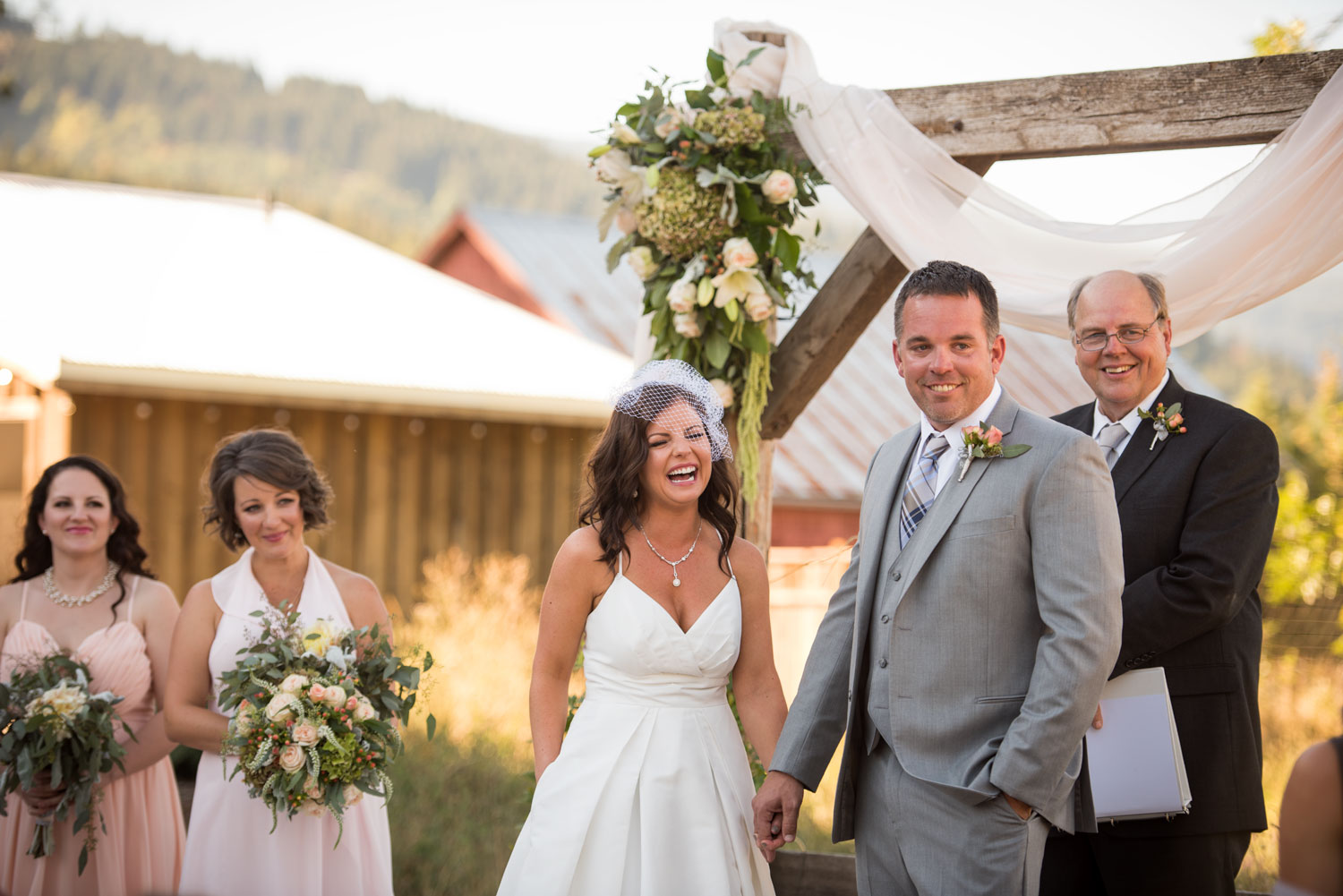 Tin Roof Barn Wedding Ceremony, Southern Washington