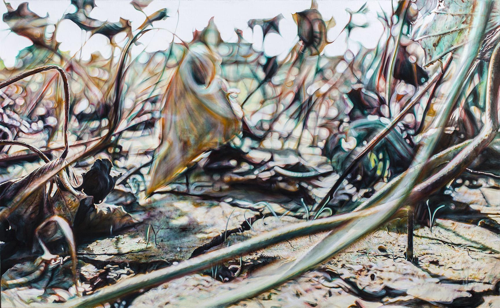 殘荷入夢2 The Withered Lotus in a Dream II  160cm x 260cm  油彩畫布Oil on canvas 2017