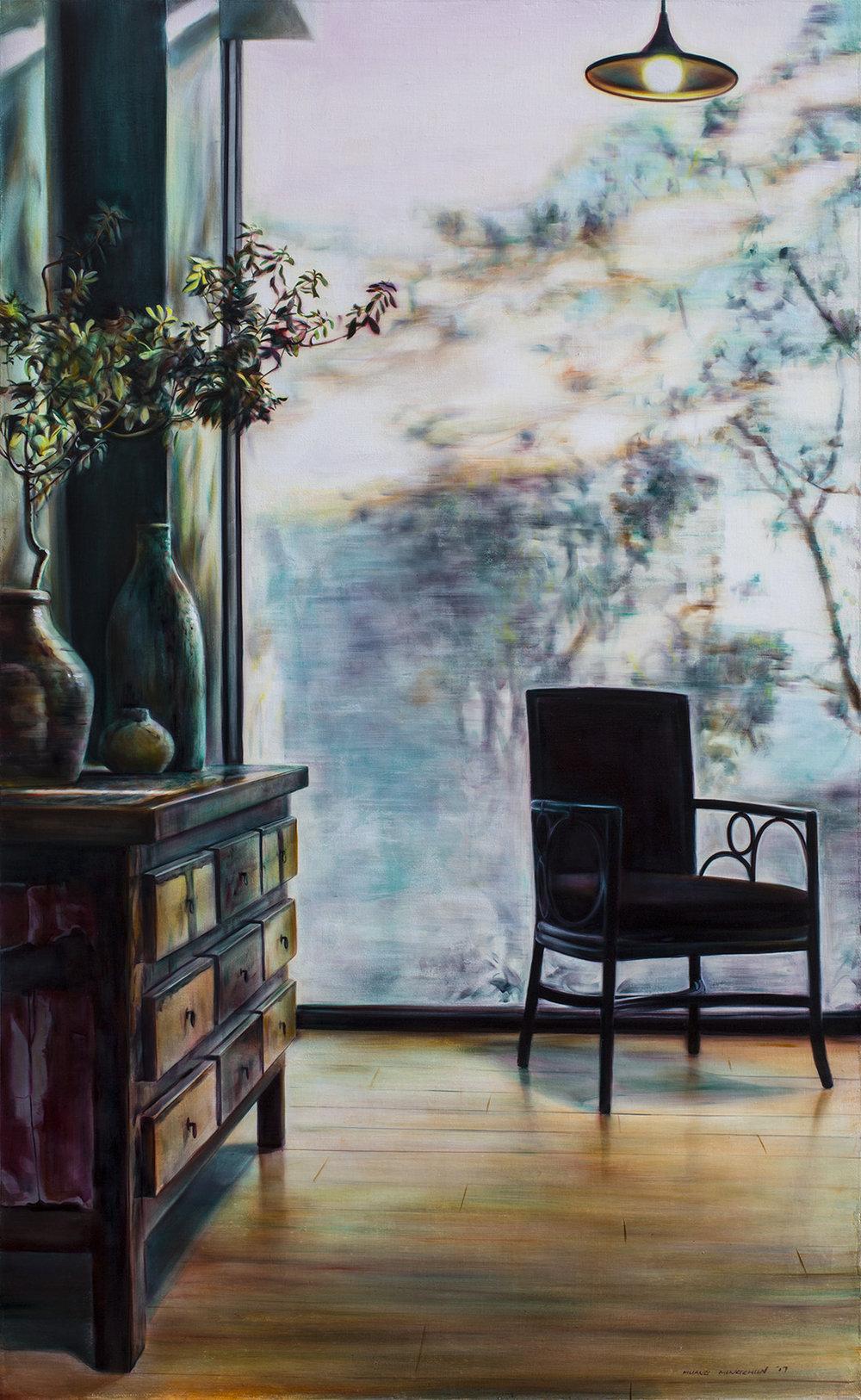溫度 Temperature1  145.5cm x 89.5cm  油彩畫布Oil on canvas 2017