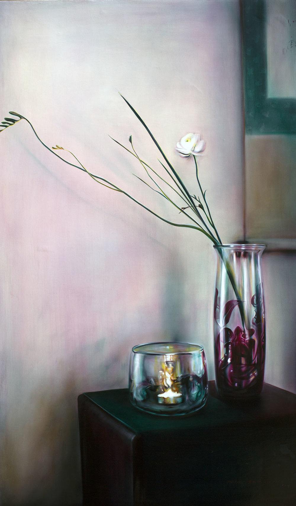 溫度-寧靜 Temperature-tranquility  145.5 x 97 cm 油彩畫布 Oil on Canvas 2017
