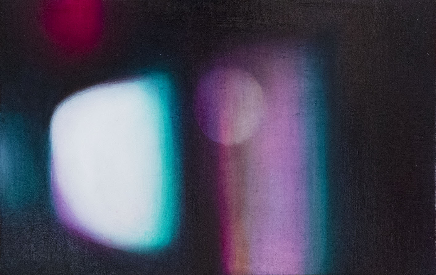 光抽象3號 Light Abstraction 3  19.5 x 41.5 cm 油彩畫布 Oil on Canvas 2017