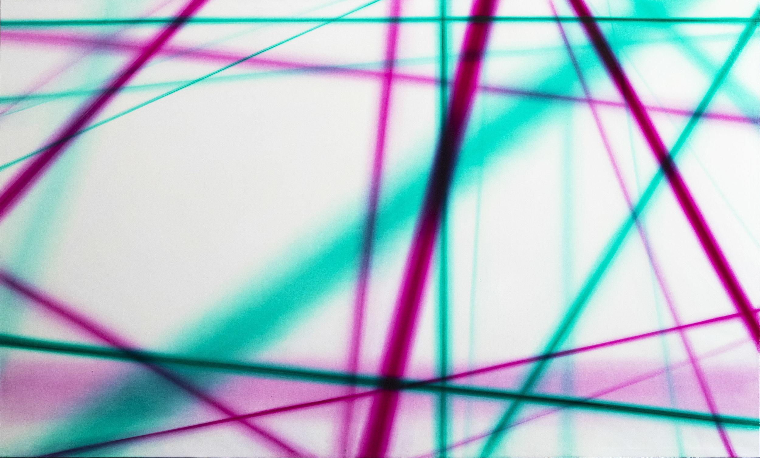 光線1號 Light beam 1  158 x 260 cm 油彩畫布 Oil on Canvas 2017