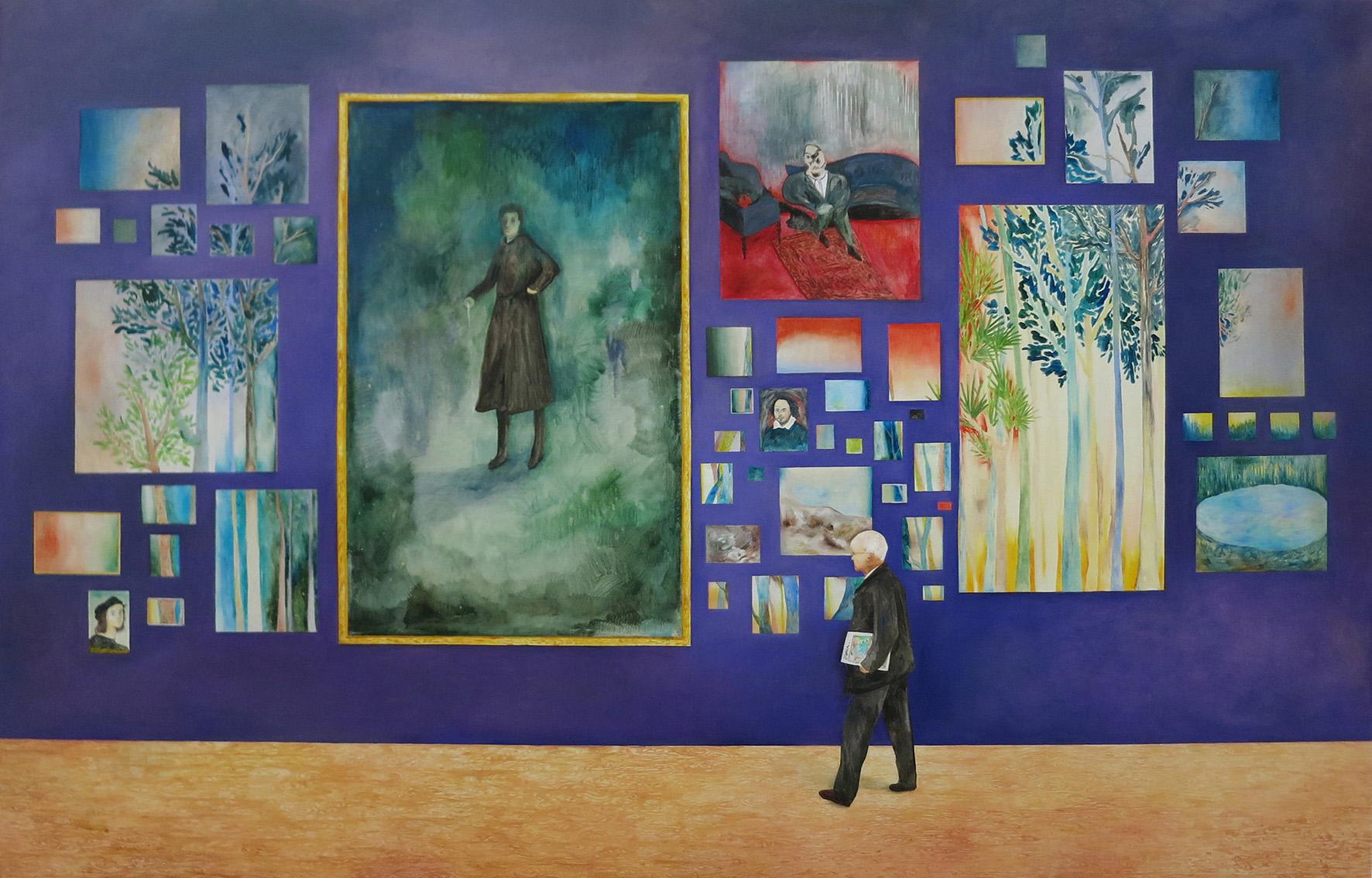 s紫色的牆 The Purple Wall, Oil on canvas, 130 x203x5 cm, 2018.jpg