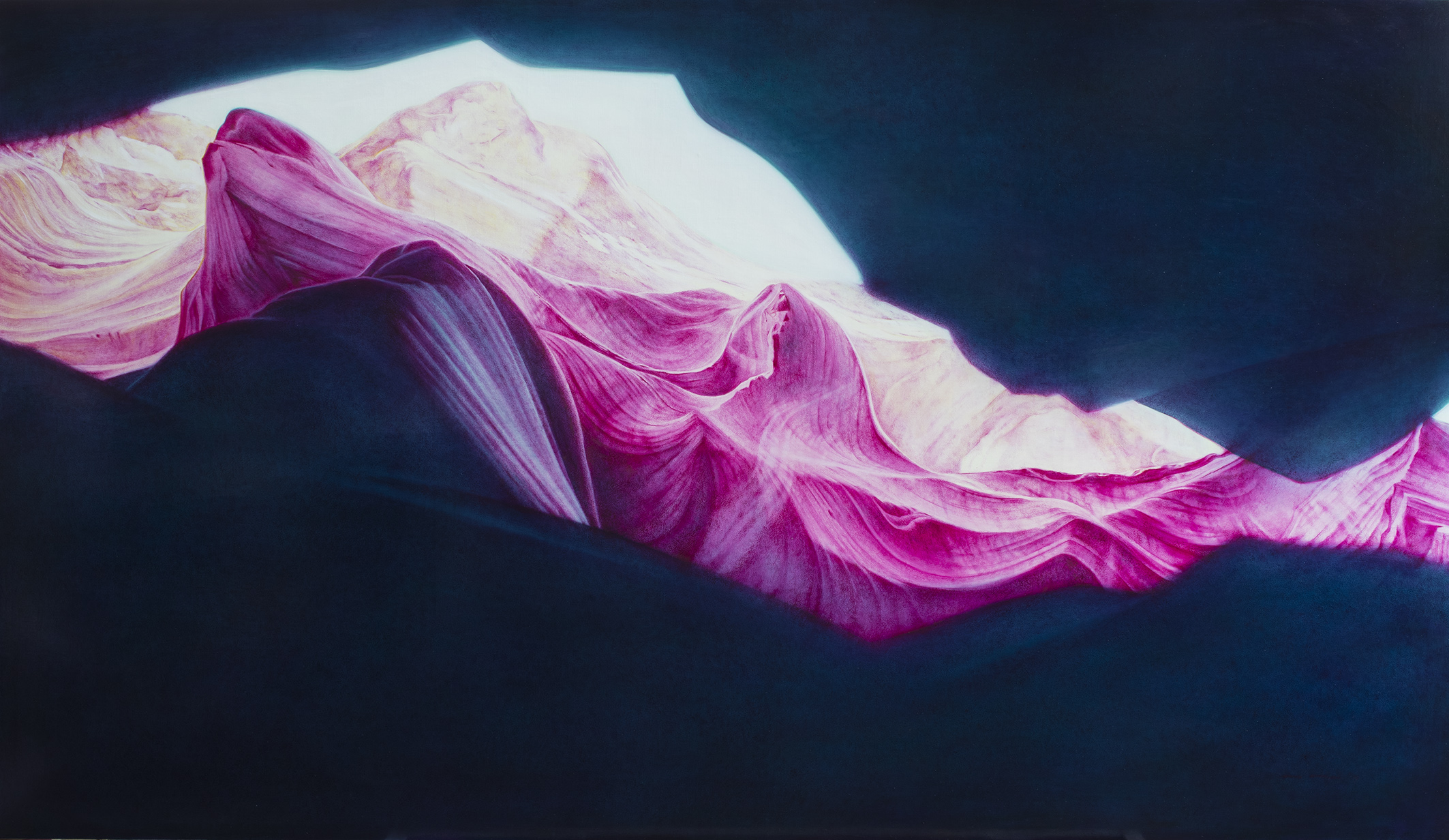 羚羊谷 Upper Antelope Canyon  油彩畫布 Oil on canvas 160x260 cm 2019