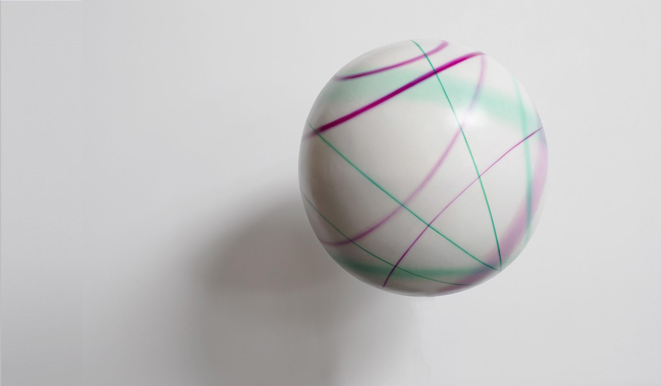 光線11 Light-Beam 11  油彩畫布/木板 Oil on canvas/board 直徑60cm 立體球型 2018
