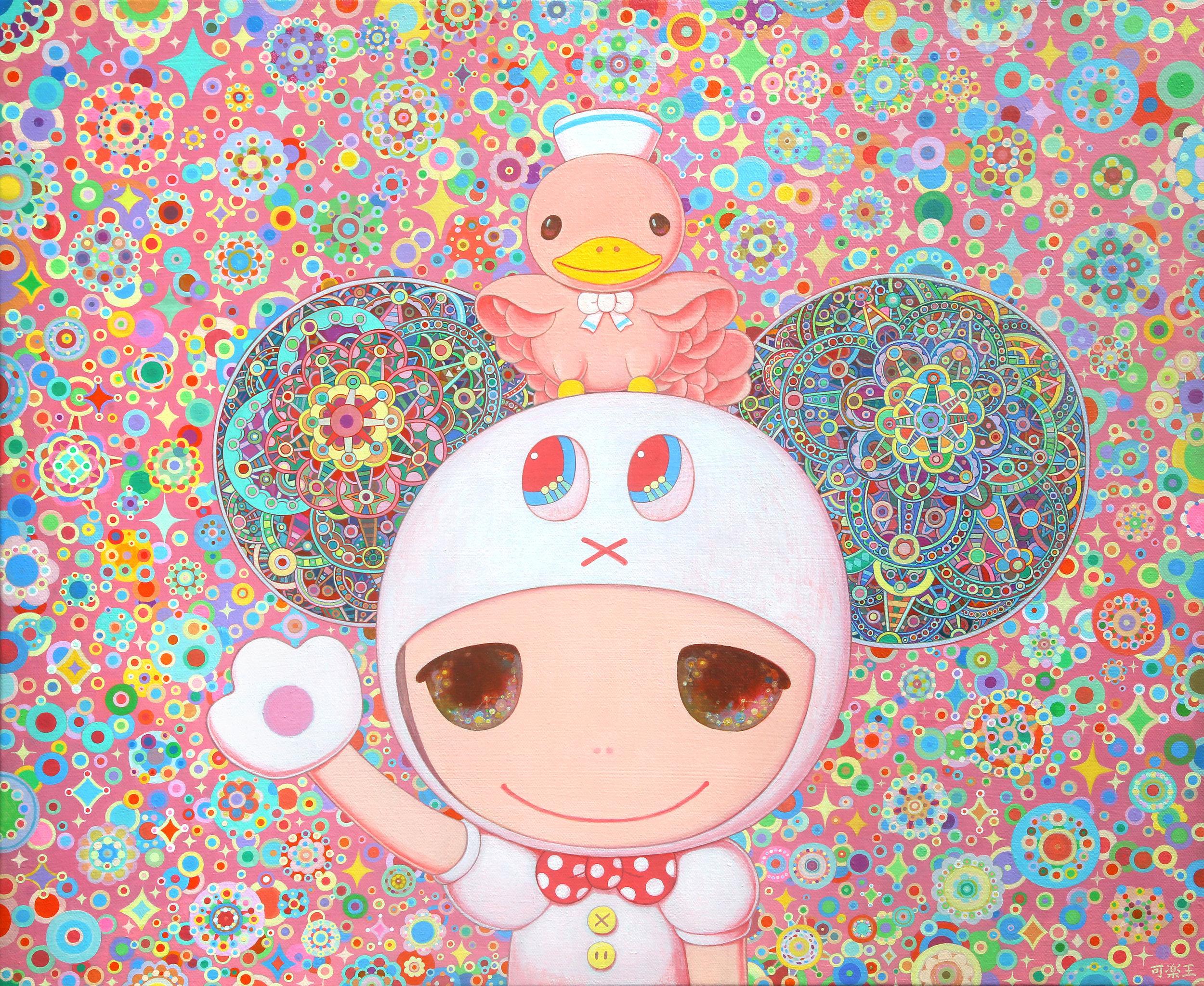 卡通人生 60.5×50.0cm Acrylic on canvas 2015-2019