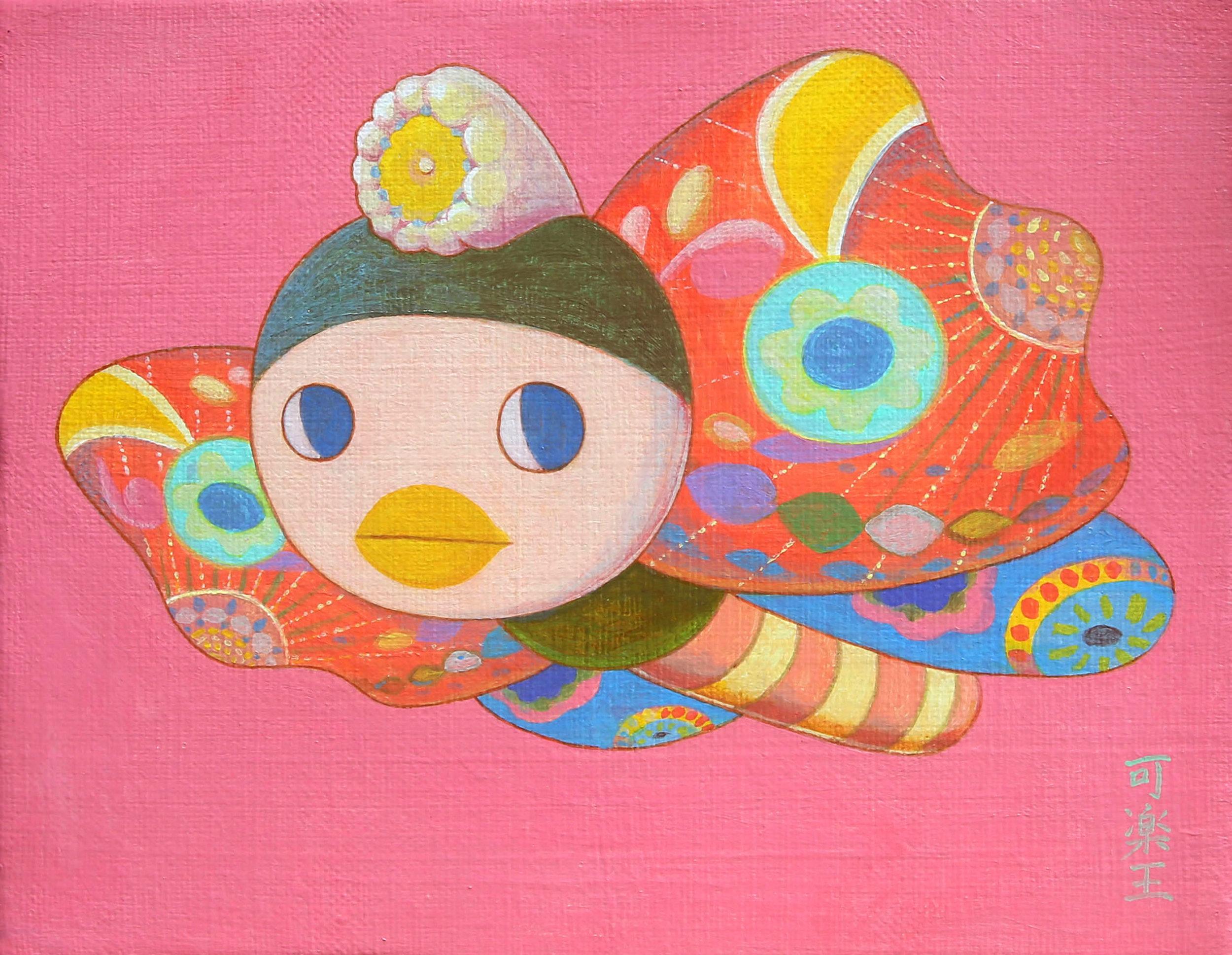 班雅明 17.5×14.0cm Acrylic on canvas 2018-2019
