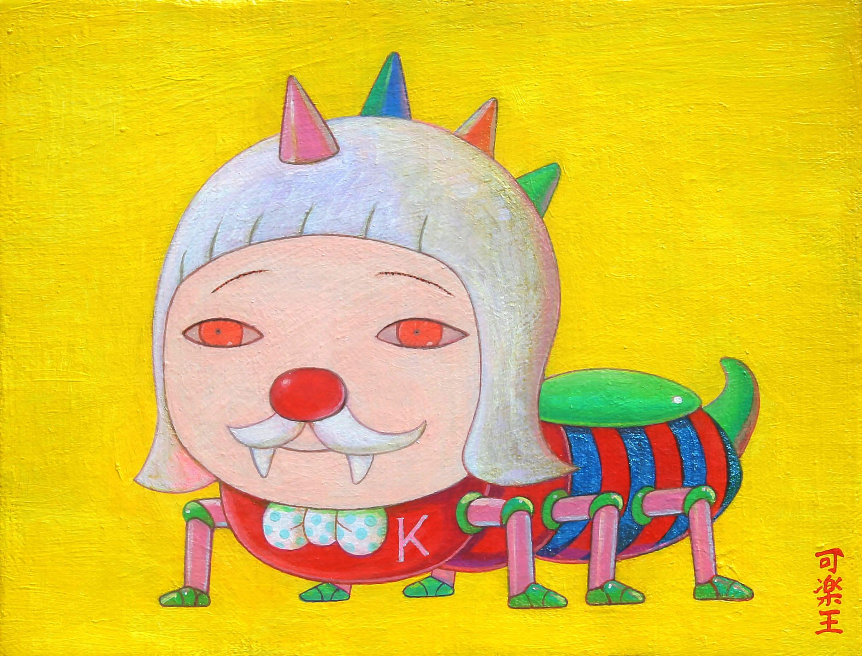 犬儒者 17.5×14.0cm Acrylic on canvas 2018-2019