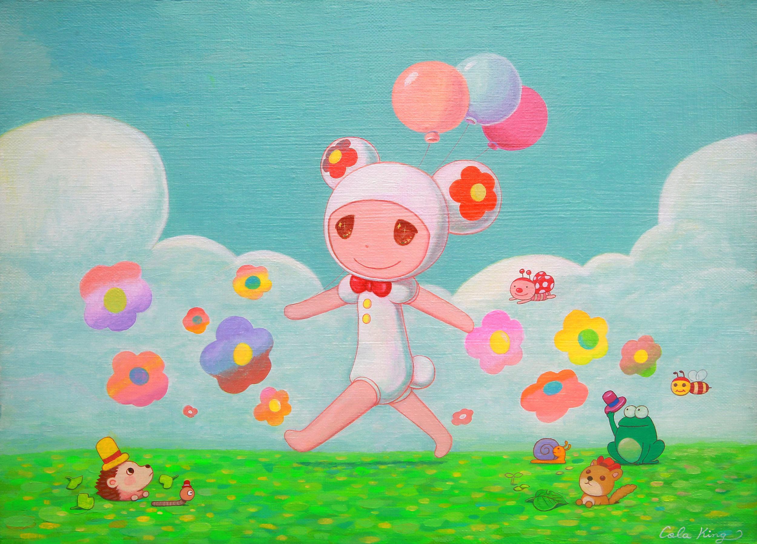 春之頌歌 33.0×24.0cm Acrylic on canvas 2019