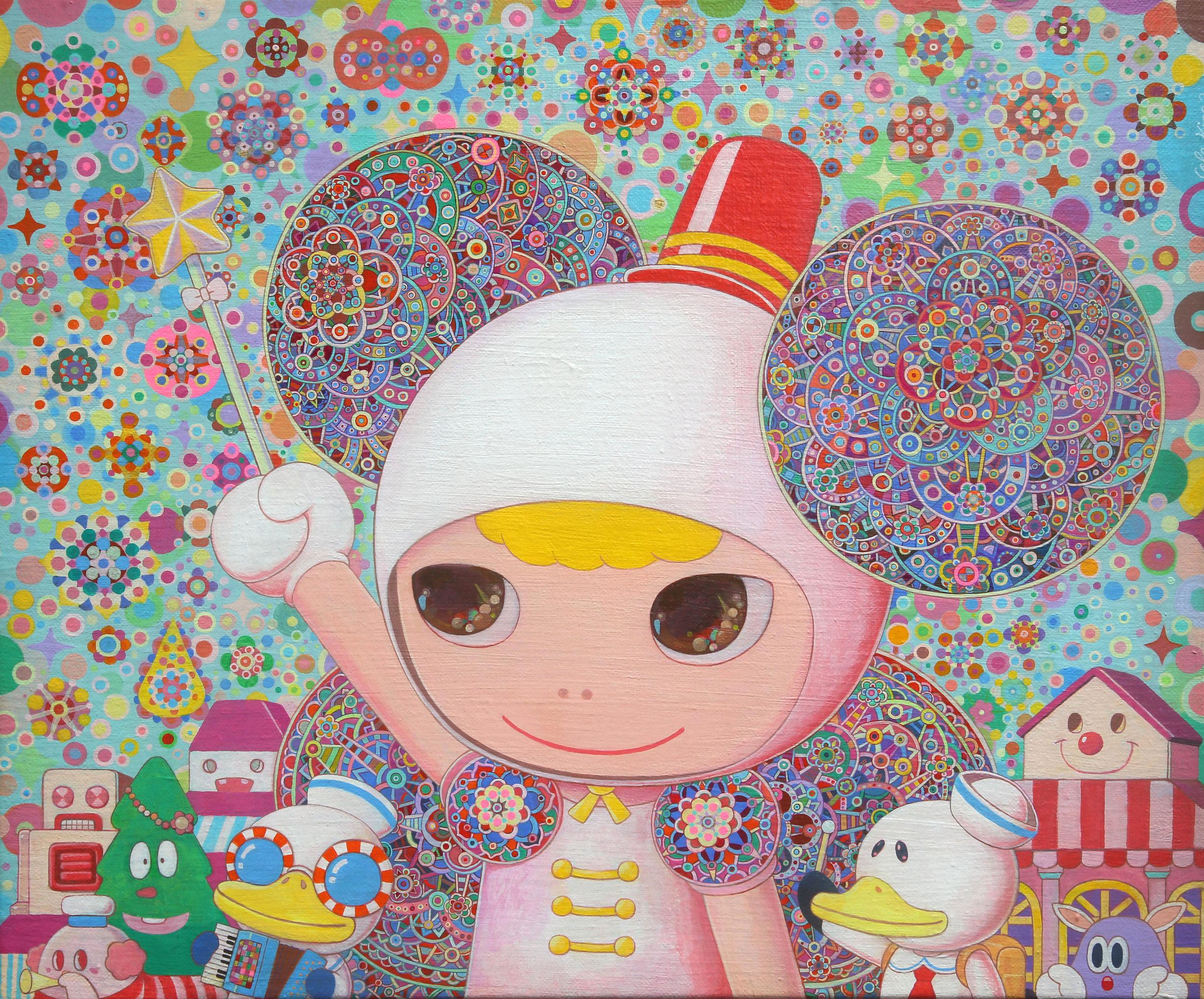 進行曲   45.5×38.0cm  Acrylic on canvas  2012-2019