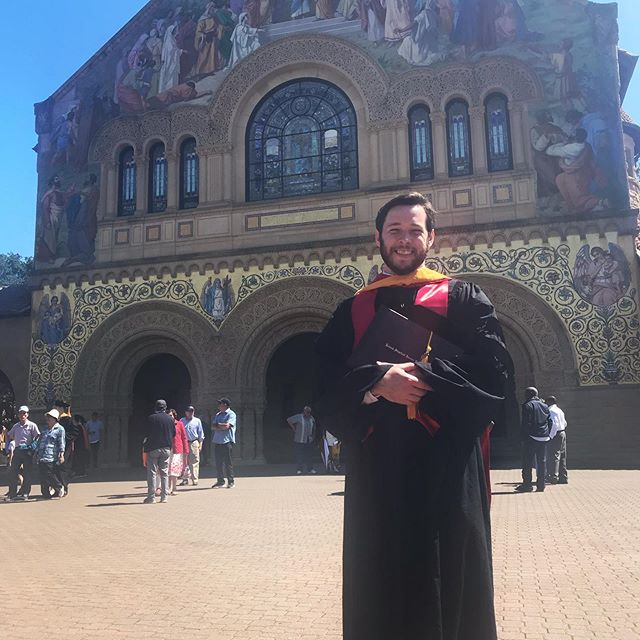 We celebrated Greg's commencement this weekend with his family and lots of friends. Greg will officially be Dr. Bentsen after completing his thesis defense this summer!! #stanford #phd #physics #musiciandayjob #dayjob #graduate #soproud
