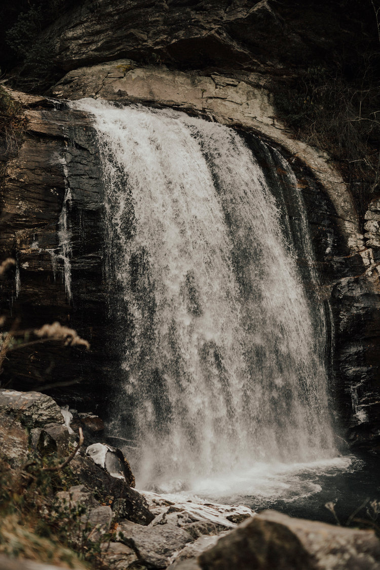 Riley + Remington | Looking Glass Falls | Asheville, NC — Erin