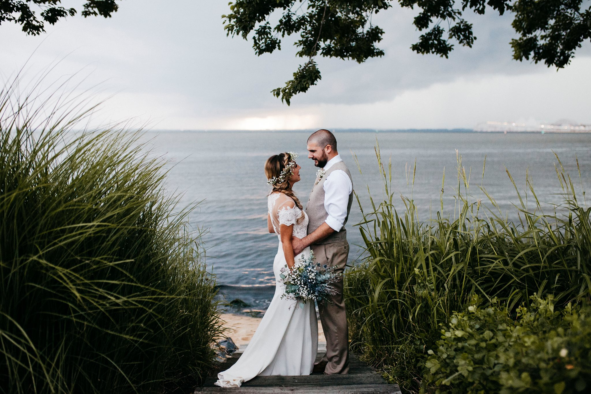 The Chesapeake Bay Beach Club  - what a stunning venue this is! It has beautiful views of the water, a private beach and a gorgeous reception hall.
