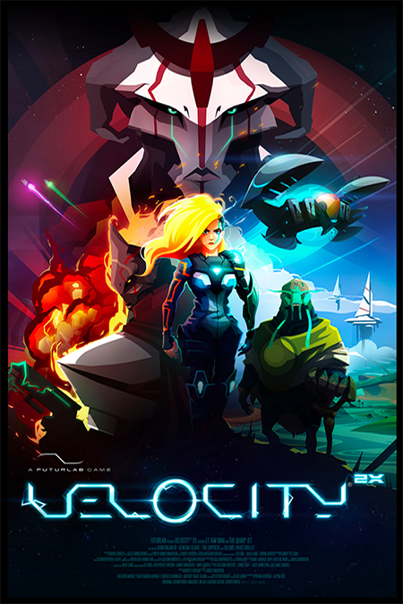 Velocity 2X by Futurlab is a great game - one of my all time favorites. This poster is a high quality silk finish poster print, nothing too crazy. What's special is you can order this bad boy signed by the dev team. When I ordered it, one of the dev team members was away and they asked if I would wait a week or two until he got back, which I did. It was worth it to have the full team sign it. I acquired this sometime in 2014.