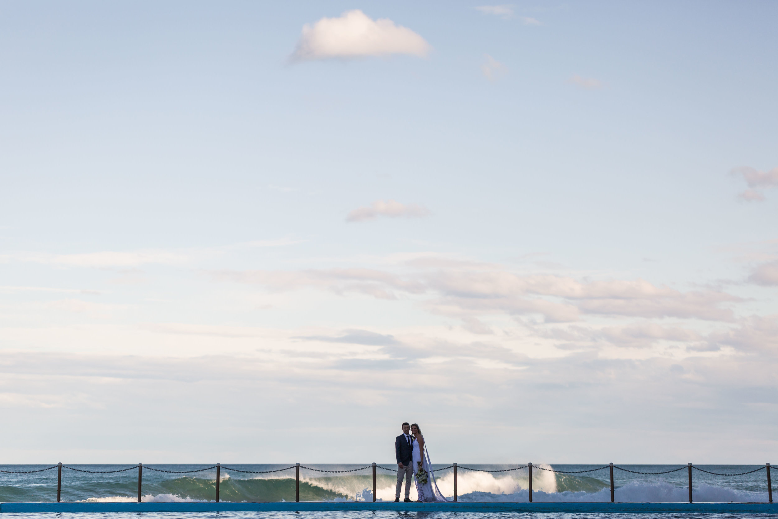 Bilgola Beach Wedding. Relaxed, natural wedding photography Sydney.
