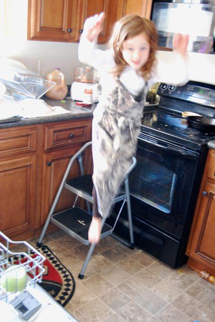 arwen jumps step stool.jpg