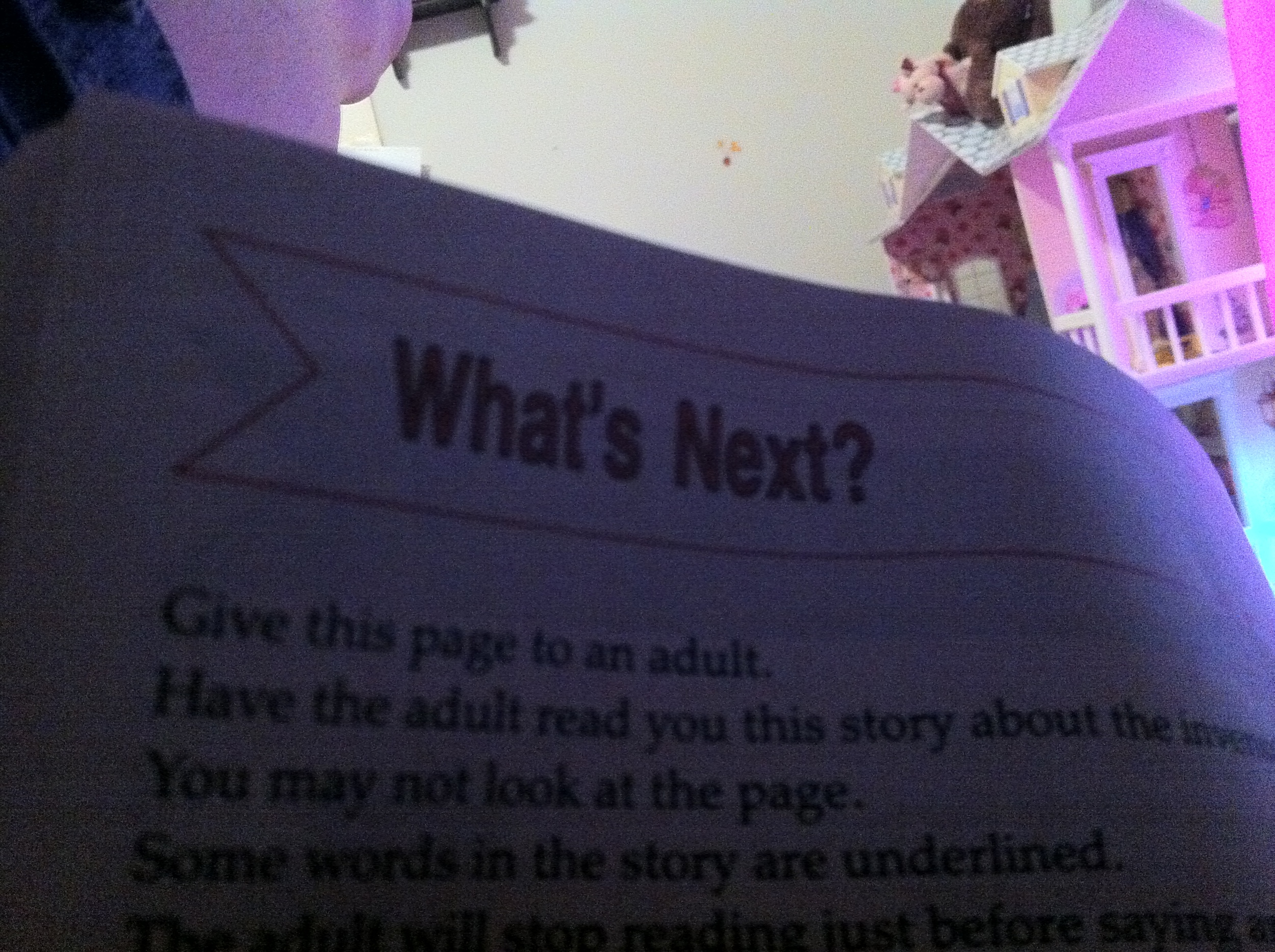 """""""Give this page to an adult""""...."""