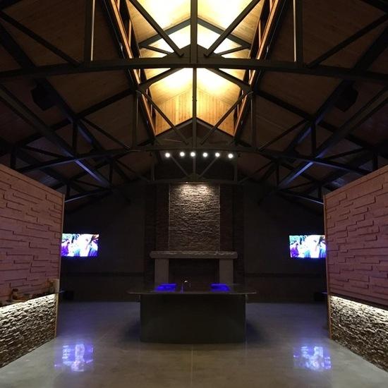 indoor luxury home fireplace