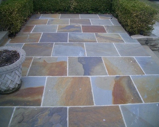 outdoor space bluestone custom work