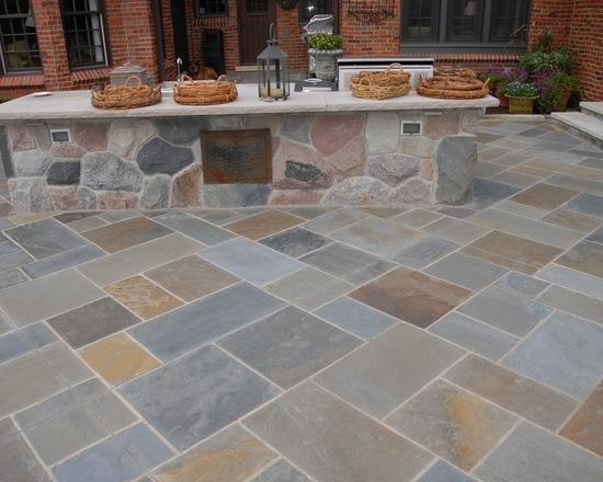 outdoor custom stone kitchen