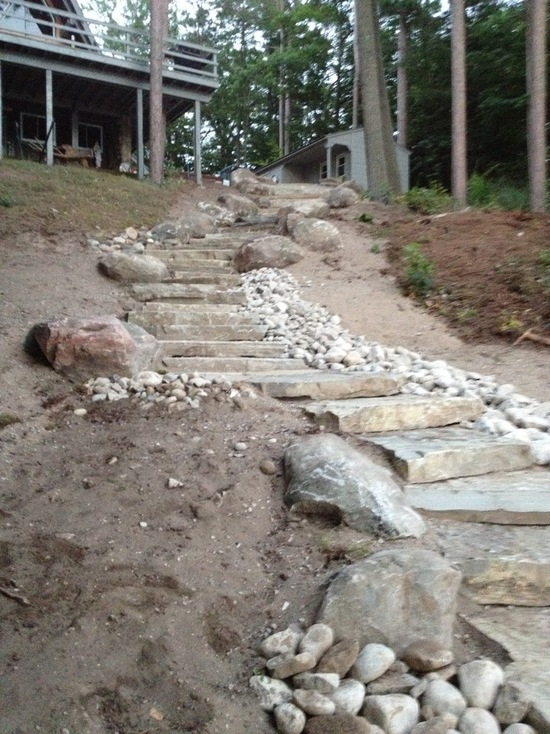 stone stairs in a hill