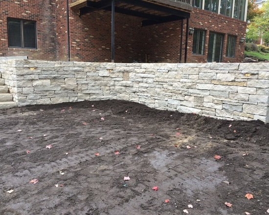 new stone wall