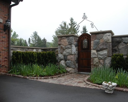 Natural Stone Gated Door