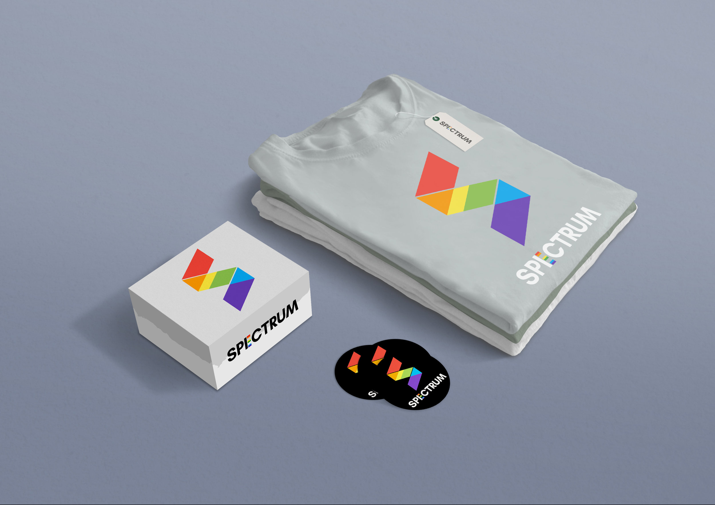 Logo and visual identity for SPECTRUM, an alliance for sexual minorities and straight supporters.