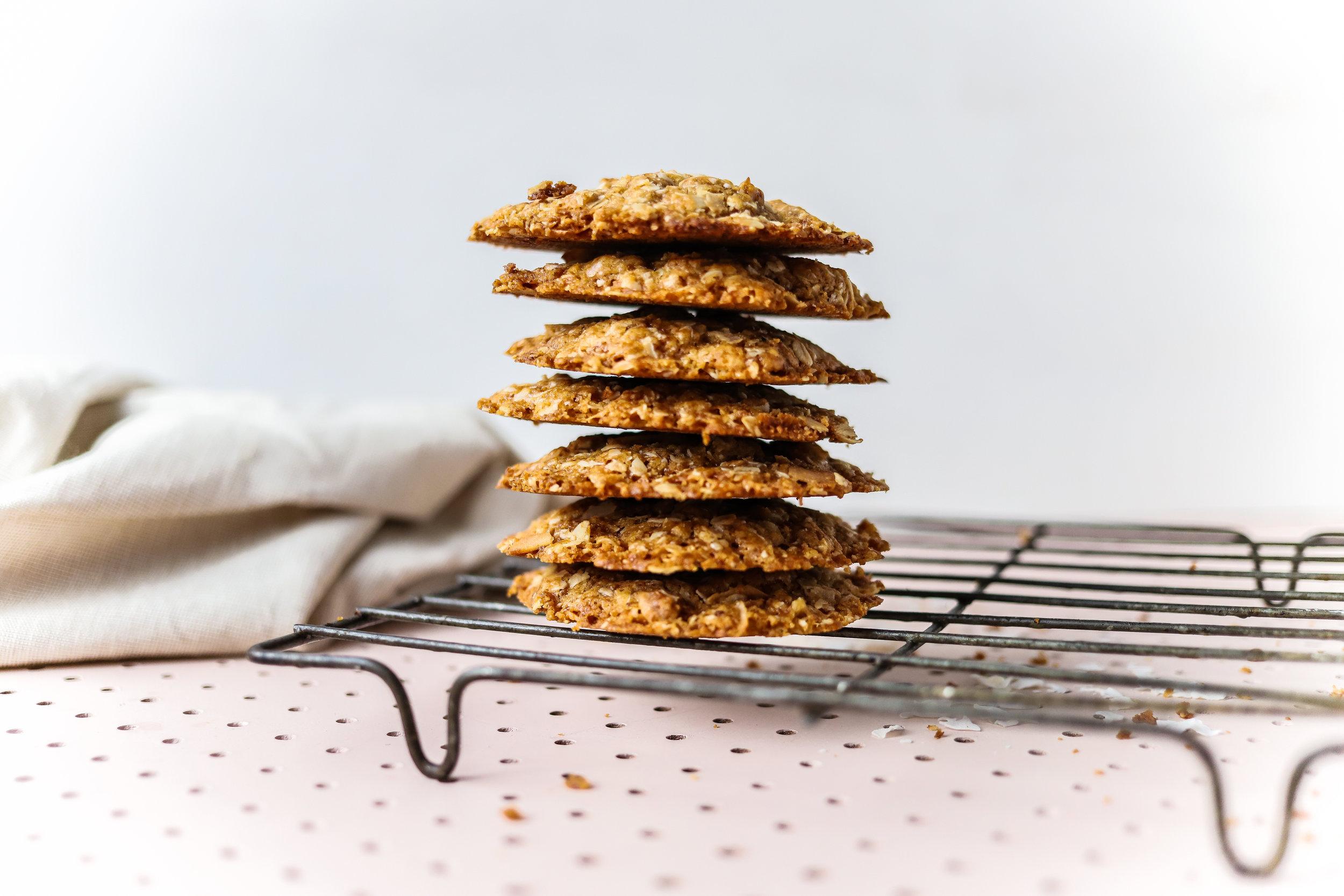 Vegan Anzac Cookies, Vegan Anzac Biscuits, Dairy Free Anzac Biscuits, Gluten Free Anzac Cookies