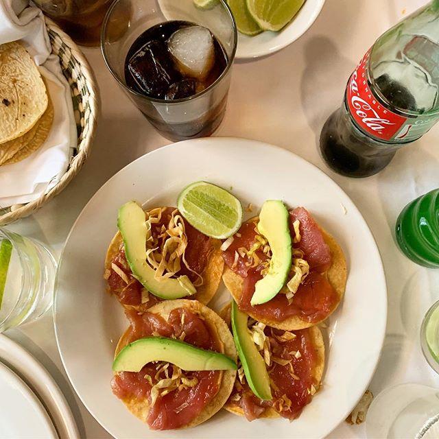 #Mercury rubbed tuna tostadas 🤙🏻