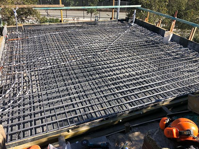 Form work, steel fixing and services are done for the top slab! Ready for the big pour tomorrow!