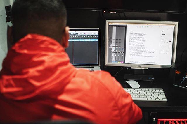 In the studio tonight with @rapperdminor and @chris_cynical 👀 . . . #shokrevolva #sydney #values