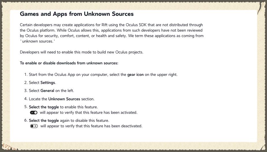 How to Sideload Apps on Oculus Rift CV1