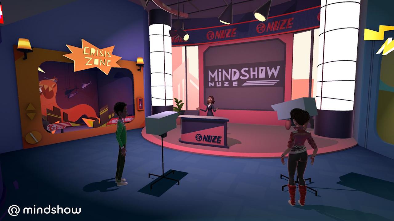 Mindshow Nuze TV Studio:  Shoot your own news segment in VR!