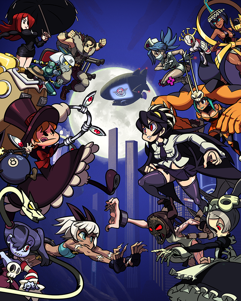 Skullgirls Mobile poster. Art created in part by my art team and myself.  © Hidden Variable / Autumn