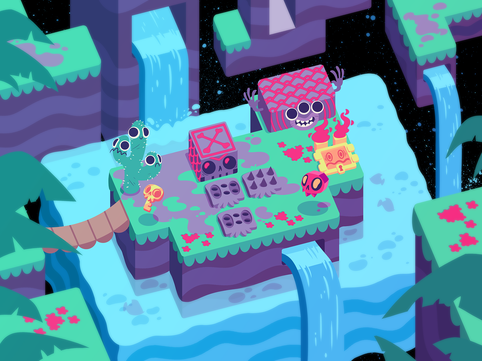 Puzzle Game stage mockup