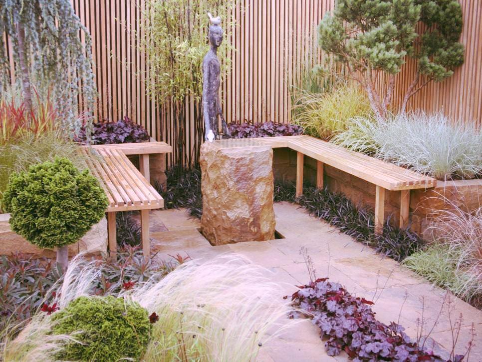 aménagement paysager laval cour intime pierre et bois