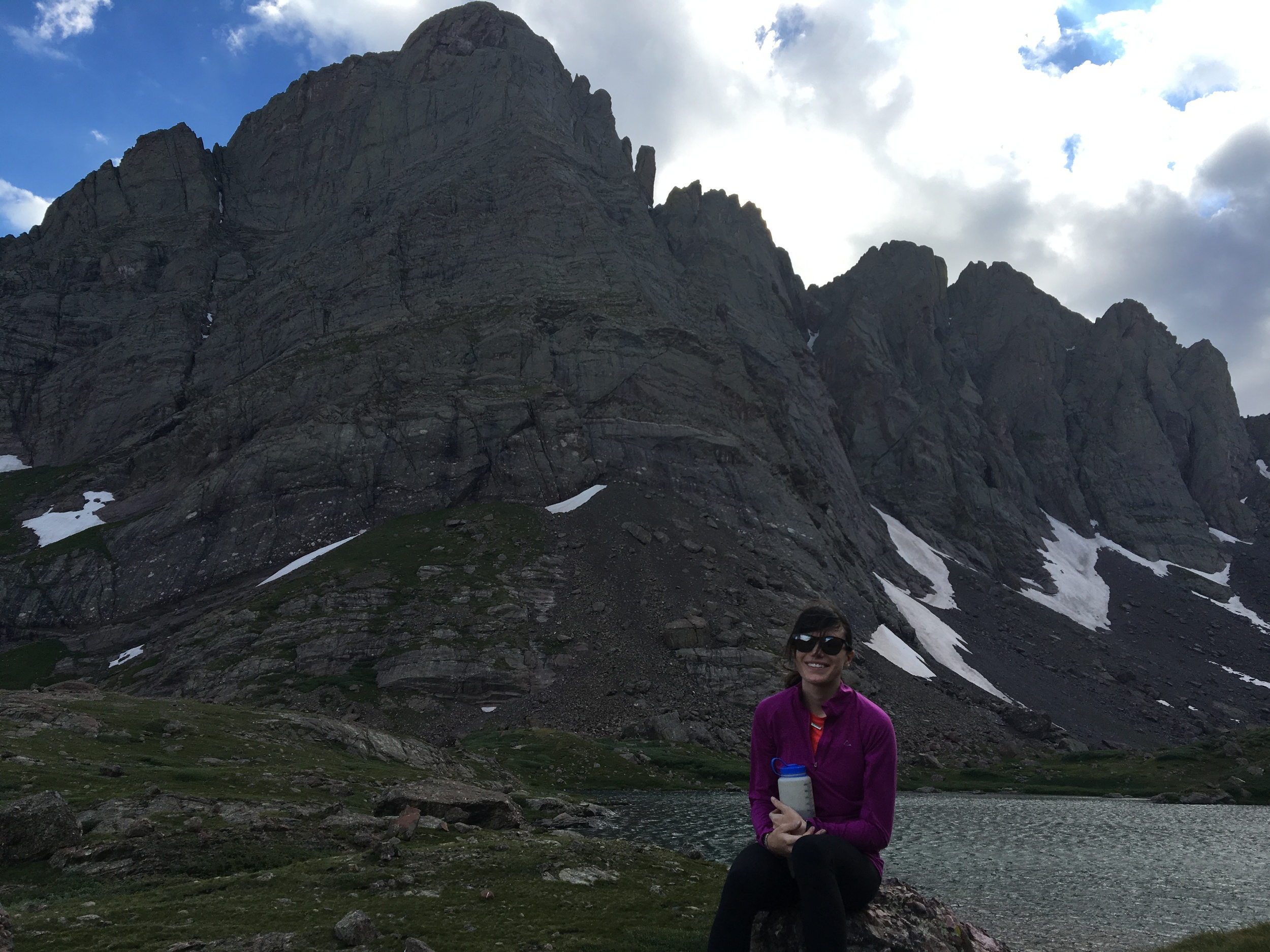 A windy afternoon hike up to the Upper Colony Lake
