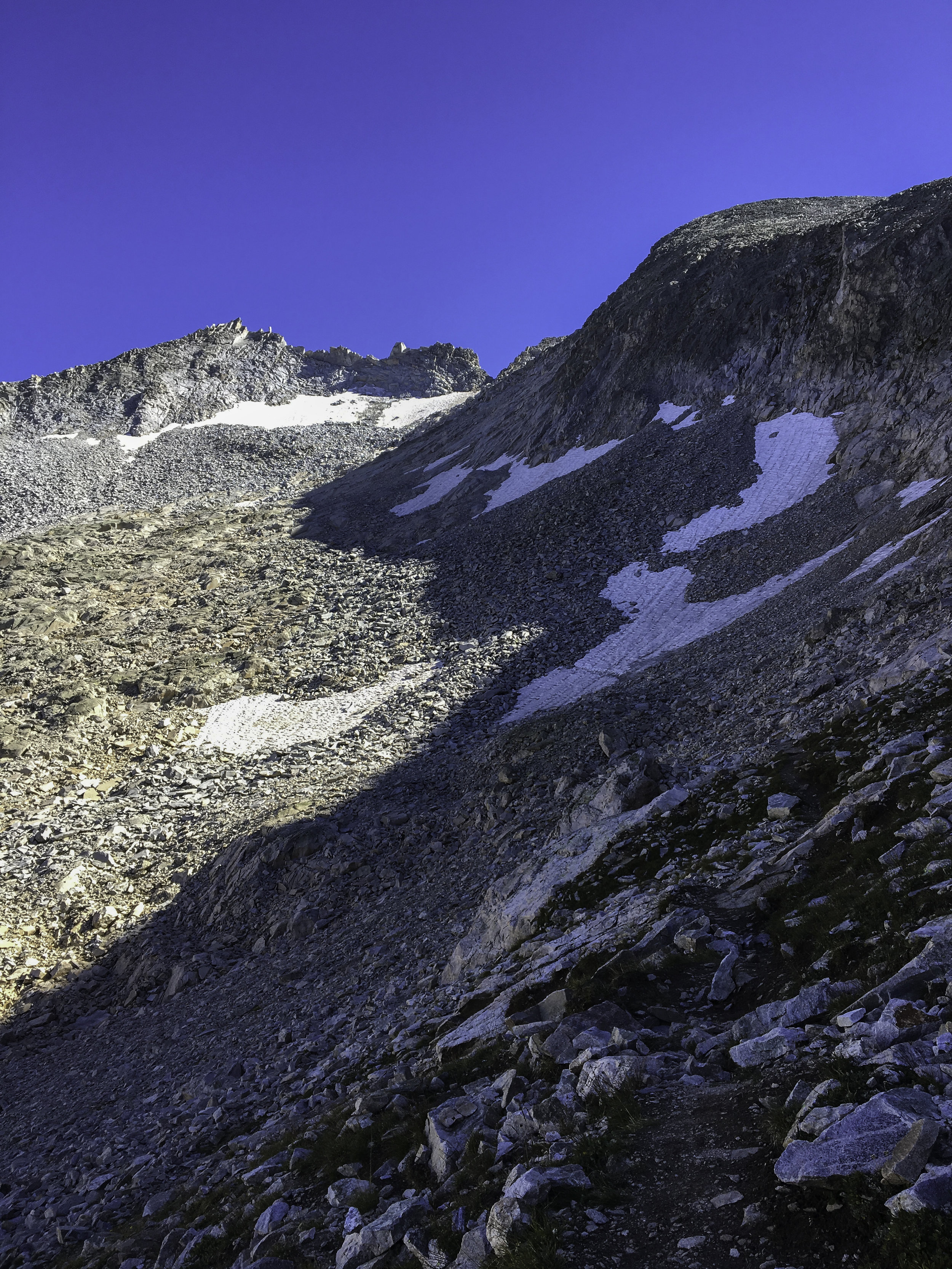 The boulder field all the way up to K2