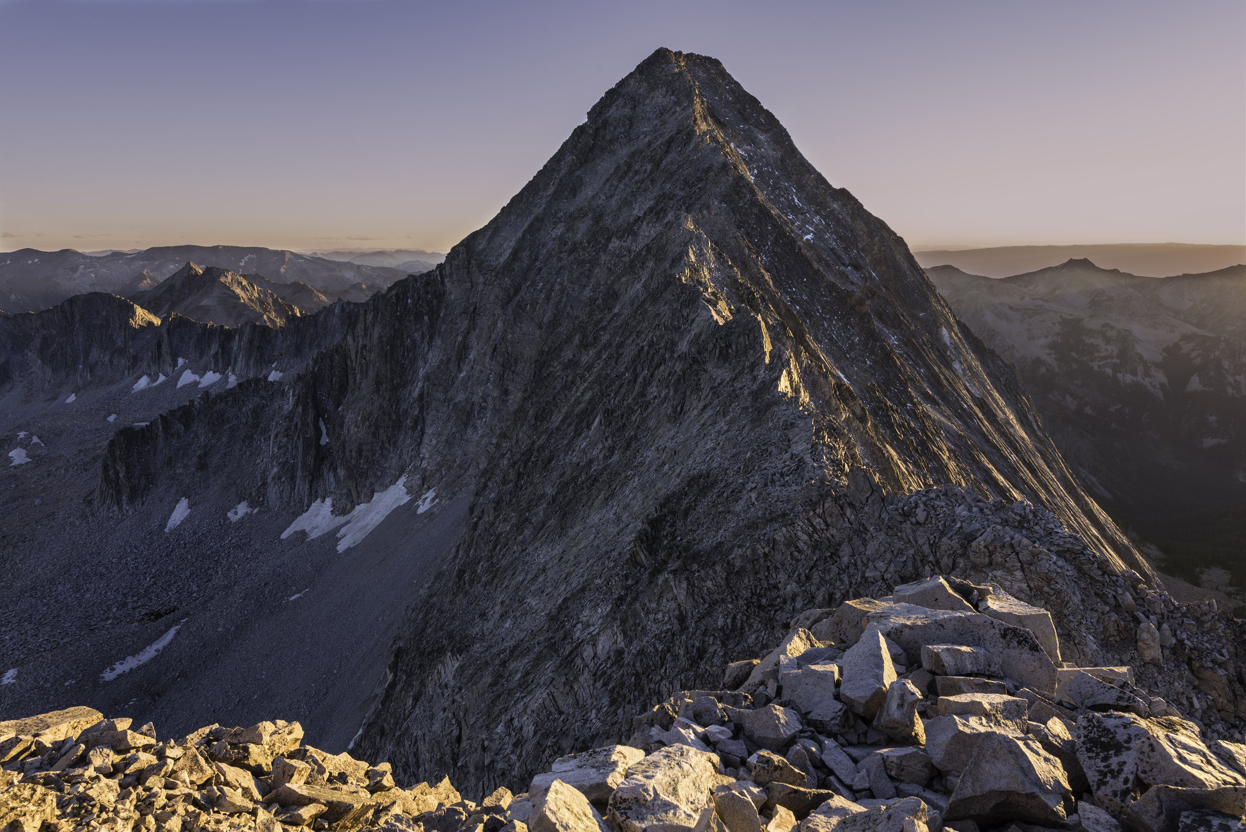 Sunset on Capitol Peak form K2.