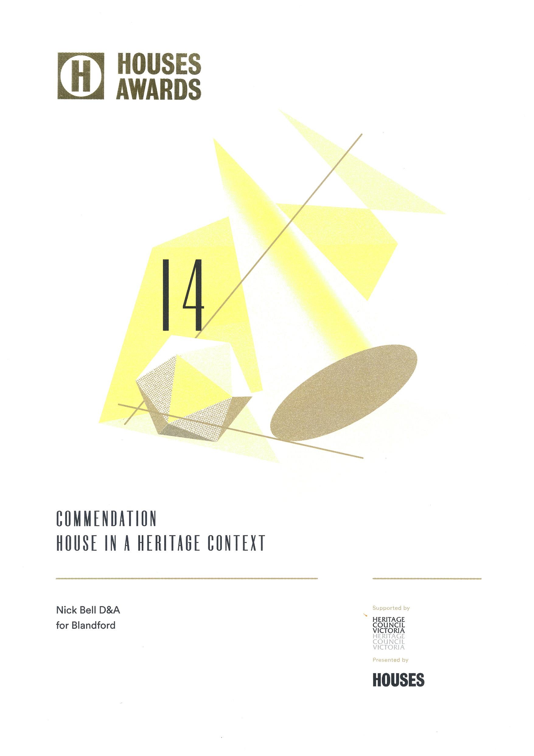 Houses Award 2014 commendation certificate.jpg
